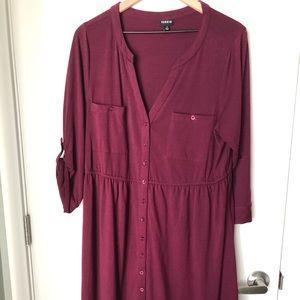 Torrid Button Front Shirt Dress